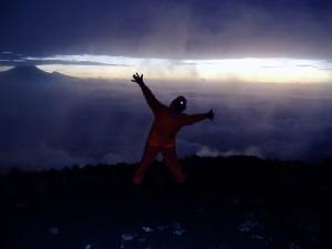 Sunrise on Meru